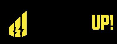 Power Up Logo Black Yellow